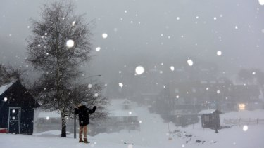 Snow showers are expected in Alpine areas on Monday.