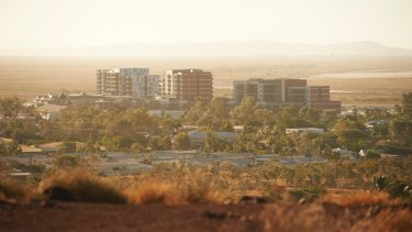 Karratha in north-west WA: In 2014, the median house price was $820,000; today it's closer to $340,000