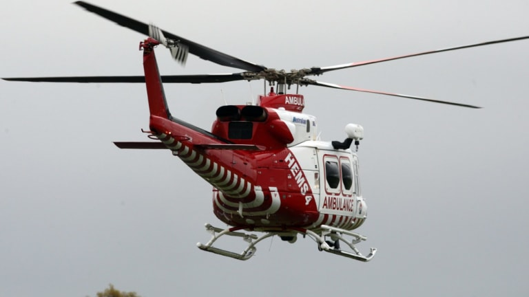 The boy was airlifted to hospital in a critical but stable condition.