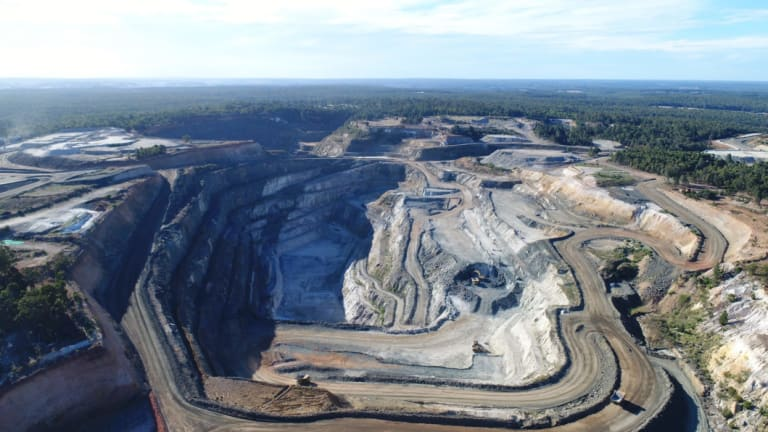 The Greenbushes lithium mine will feed the new plant.