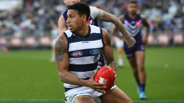 Tim Kelly has had the football on a string since debuting in the AFL last season and is now Brownlow favourite.