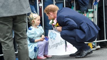 Prince Harry meets a little princess.