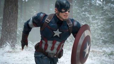 Chris Evans as Captain America.