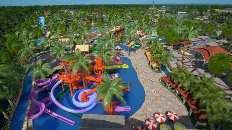 An artist's impression of Sanad Capital's planned Sunshine Coast water park development.