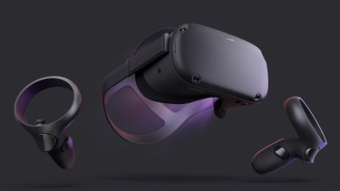 The Oculus Quest comes with two wireless touch controllers.