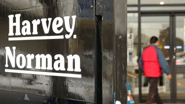 Harvey Norman has told investors its profits for August and July are up 185 per cent.