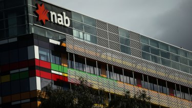 "NAB's Melbourne office has been ""mothballed"" since July."