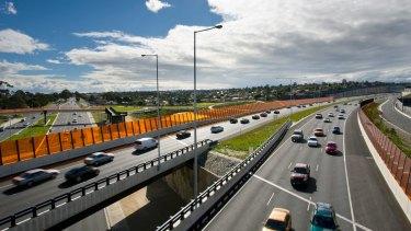 Traffic on EastLink.