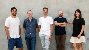The Blackbird Ventures team: Nick Crocker, Rick Baker, Niki Scevak, Joel Connolly and Samantha Wong.