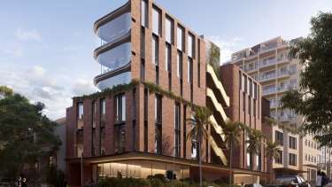Renders of the planned upgrade by Fortis of its newsite at 80-84 and 90 New South Head Road, Edgecliff.