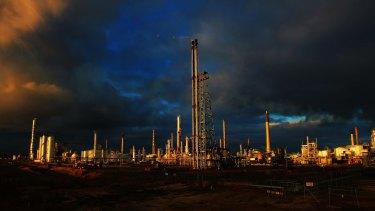ASX-listed Viva Energy's Geelong oil refinery.