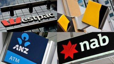 Big four banks: Westpac, Commonwealth, ANZ, NAB.