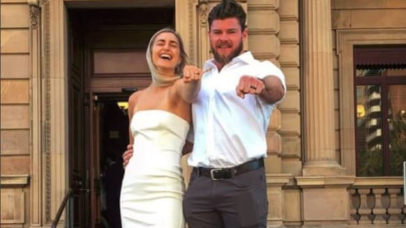 Frances Abbott and Sam Loch wed after whirlwind relationship