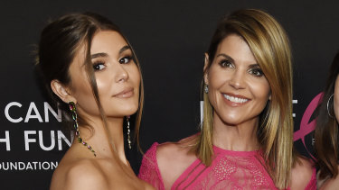 "Actress Lori Loughlin with her daughter Olivia Jade Giannulli at ""An Unforgettable Evening"" in Beverly Hills, California, in February."