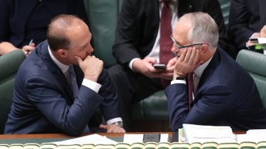 Peter Dutton and Malcolm Turnbull in 2015.