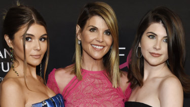 Olivia Jade Giannulli, her mother Lori Loughlin and Isabella Rose Giannulli earlier this year.