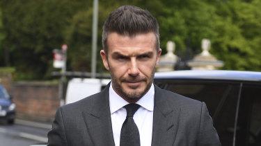 David Beckham arrives at Bromley Magistrates Court.