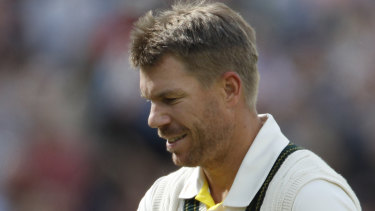 David Warner is in the midst of a horror run of outs.