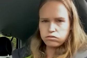 Monica Smit filmed herself during her arrest on Tuesday.