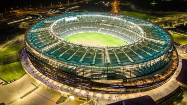 The $1.8 billion Optus Stadium has the biggest LED lighting system of any venue in the world.