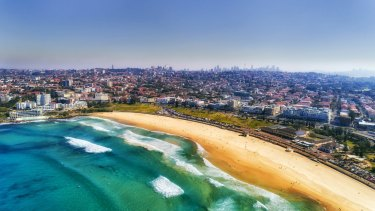 Bondi Beach, just down the road from the home to one of Australia's biggest ponzi schemes.
