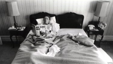 The morning after the election.  Malcolm Fraser, still Prime Minister, can relax in bed at the Windsor Hotel.