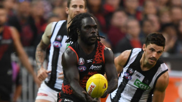 A high tackle by Anthony McDonald-Tipungwuti of the Bombers was not paid.