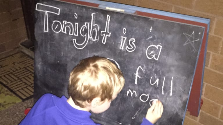 Briana Blacket's son knows all the phases of the moon.