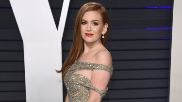 Isla Fisher at the Vanity Fair Oscar Party.