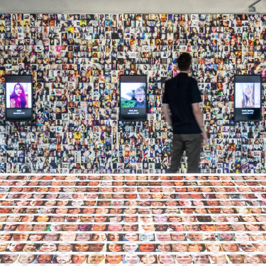 """Highlighting the processes in how some AI is created, the Training Humans exhibition displayed imagery – as Crawford puts it, """"scraped flotsam and jetsam off the internet"""" – used to """"train"""" AI systems."""