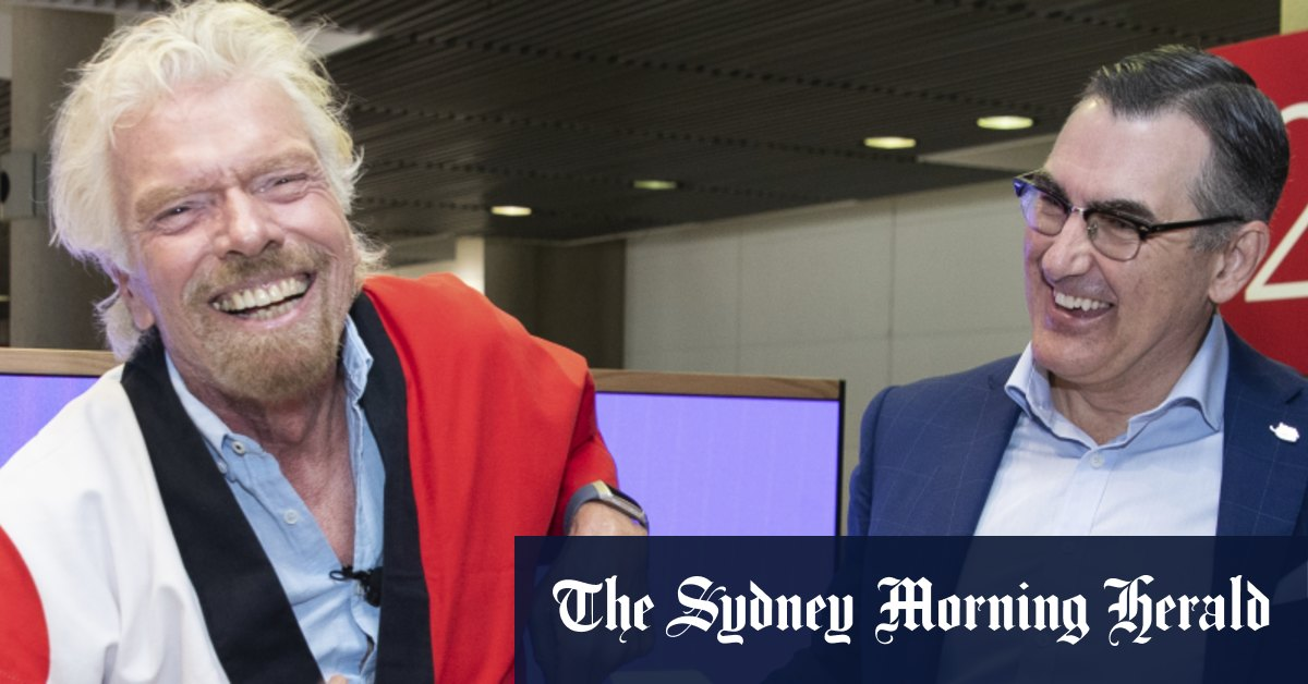 Branson Bain at loggerheads over Virgin stake as QLD seals investment – Sydney Morning Herald