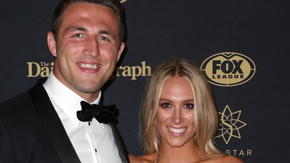 Rabbitohs star Sam Burgess splits from wife Phoebe