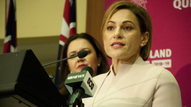Queensland treasurer Jackie Trad questions why so much of the federal budget money is outside the four-year budget estimates.