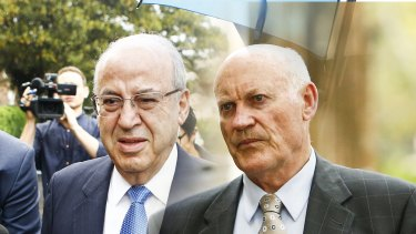 Former NSW Labor MPs Eddie Obeid and Ian Macdonald, seen in a composite image.