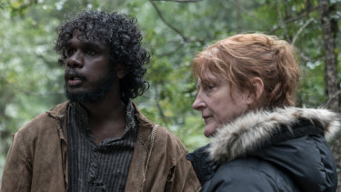 """I learnt to be stubborn and stick to your guns"": Jennifer Kent with Baykali Ganambarr on set."