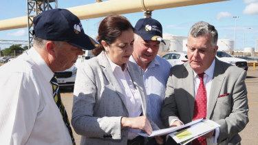 Queensland Premier Annastacia Palaszczuk at the Port of Townsville last month.