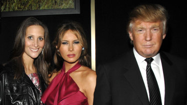 Stephanie Winston Wolkoff, Melania Trump and Donald Trump in 2008.