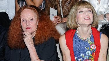 Vogue's power duo, Grace Coddington and Anna Wintour.