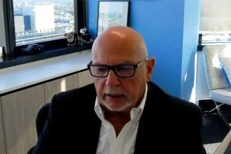 Nuix chief executive Rod Vawdrey addresses investors on Tuesday.