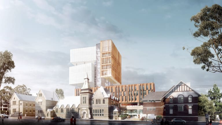 An artist's impressions for a new 14-storey high school in Surry Hills.