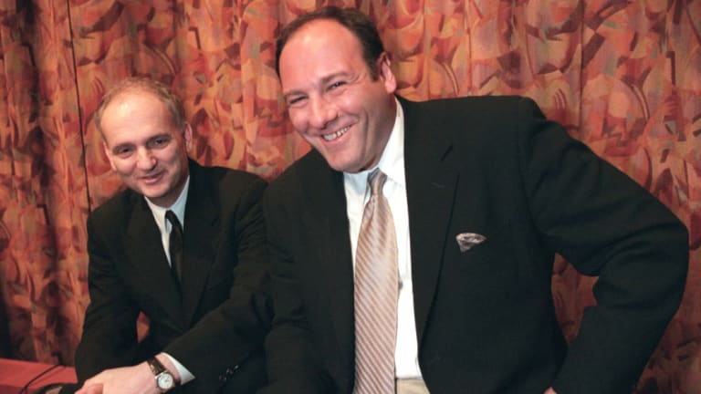 """The Sopranos"" creator David Chase with actor James Gandolfini, who played Tony Soprano, in 1999."
