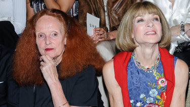 Vogue's power duo, Grace Coddington and Anna Wintour.
