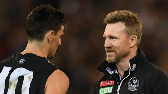 Nathan Buckley's message to Collingwood players