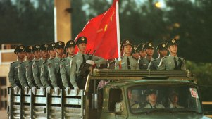 Chinese troops in Hong Kong. Covert presence is set to rise.