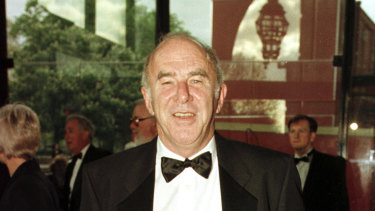 Clive James at the BAFTA awards in 1997. The Kid from Kogarah found a place at the top table in Britain.