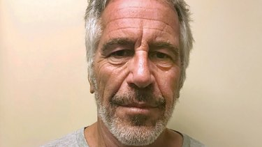 A photo of Jeffrey Epstein, who died in jail in 2019, provided by the New York State Sex Offender Registry.