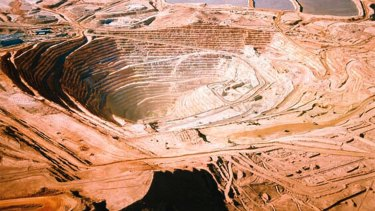 BHP runs the world's largest copper mine, Escondida, in Chile's Atacama Desert.