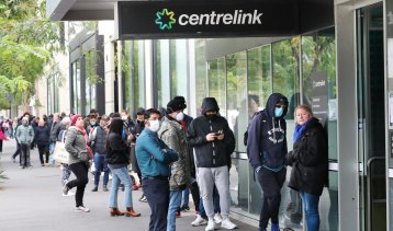 Centrelink queues surged at the height of the virus however the unemployment rate has improved.