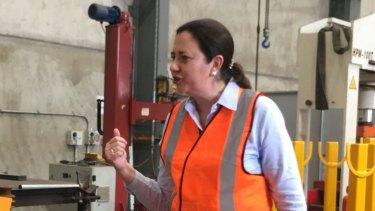 Premier Annastacia Palaszczuk visits a Mackay steelworks today.