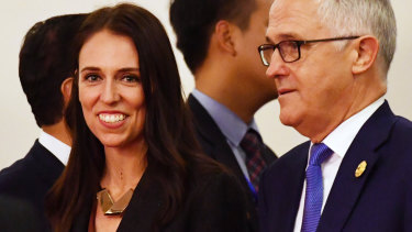 New Zealand's Prime Minister Jacinda Ardern and Australia's Prime Minister Malcolm Turnbull in Danang, Vietnam, last year.